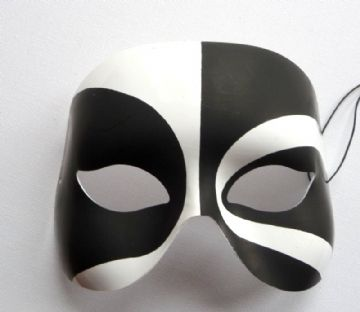 Black & White Voodoo Mask